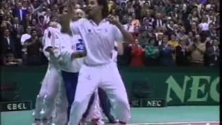 Victoire en Coupe Davis 1991