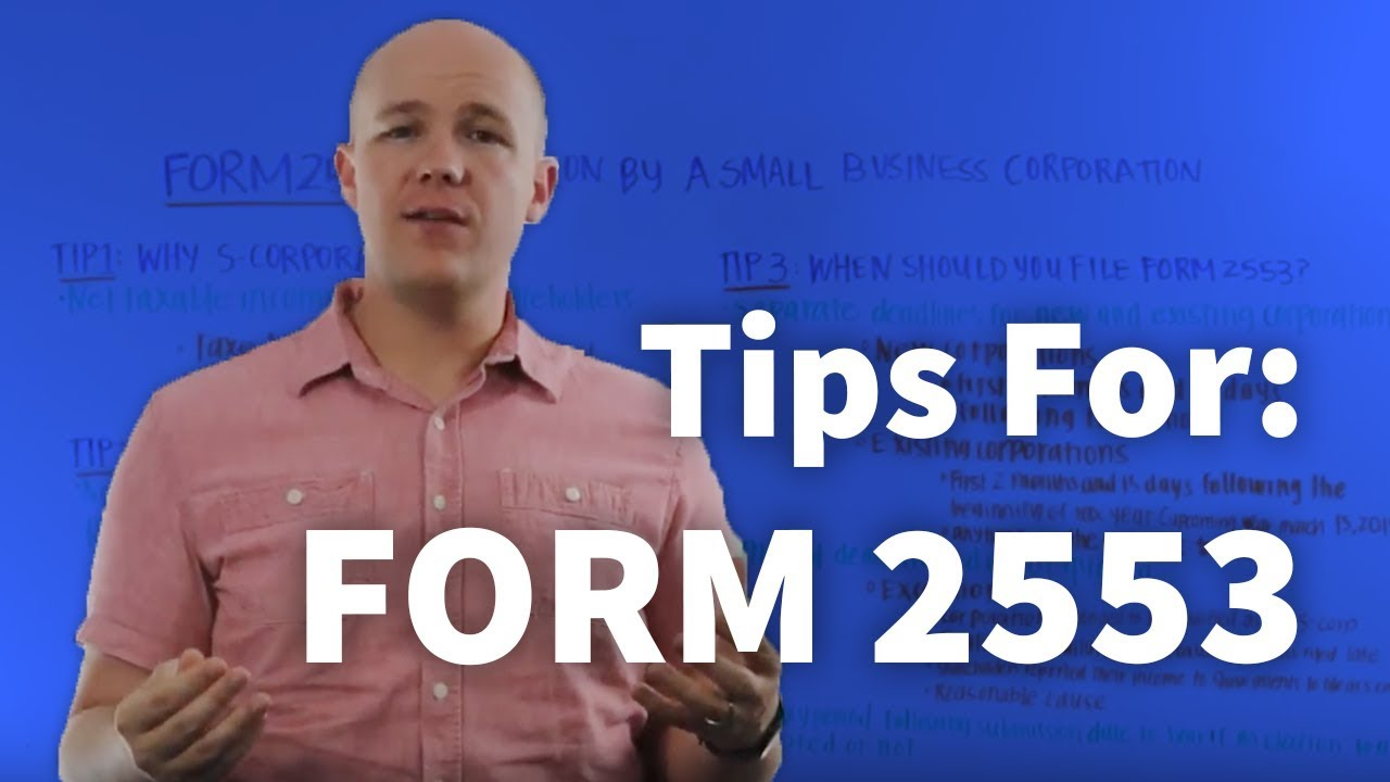 Form 2553 tips for filling irs form 2553, electiona small business corporation