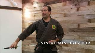 Samurai Sword, Katana Form Nuki Kiri, Ninja Sword Training for Bujinkan Ninjutsu Training