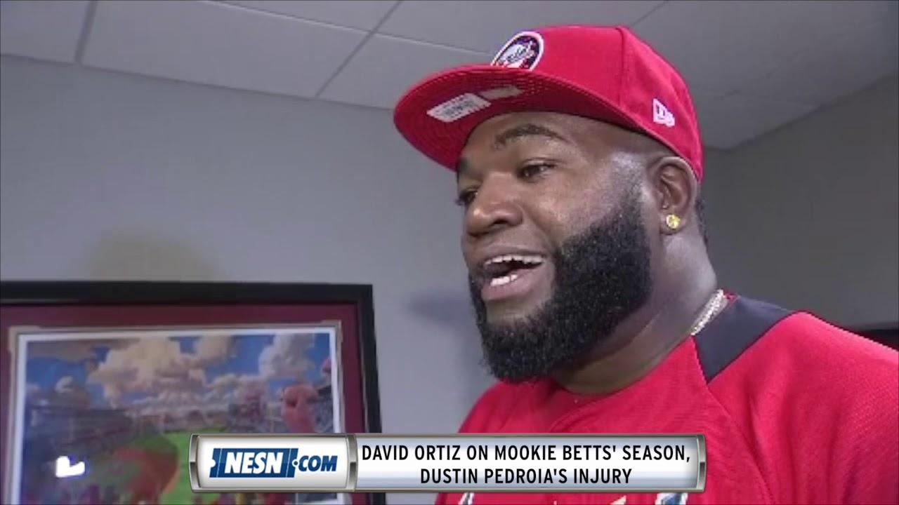 David Ortiz on Mookie Betts' progression, Dustin Pedroia injury