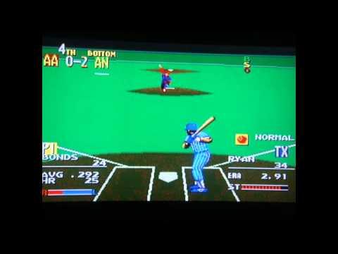 Sports Talk Baseball - Sega Genesis - All Star Custom Line Up