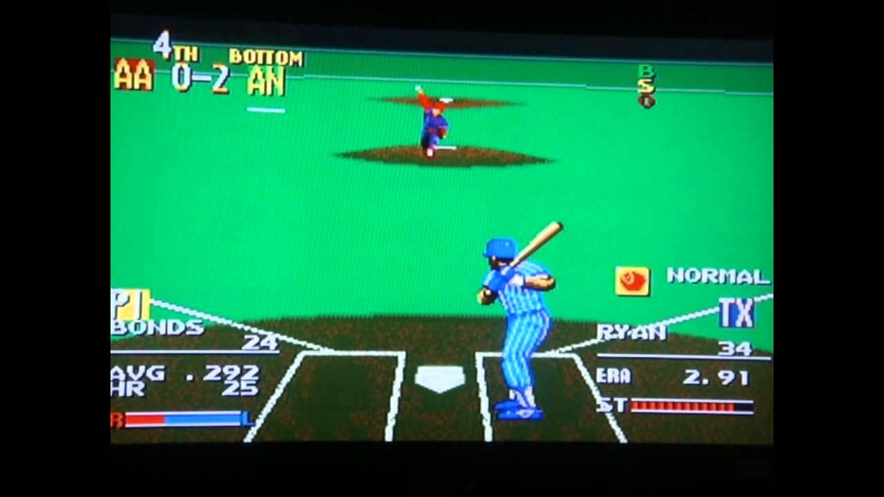 Sports Talk Baseball Sega Genesis All Star Custom Line