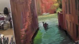 Канал в Венеции, художник Сахаров, уроки рисования