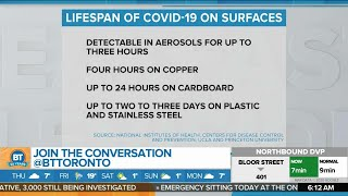 Bt's melanie ng and devo brown breakdown what the lifespan of covid-19 is on surfaces that may surprise you.