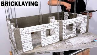 AMAZING PLASTERING --- PAINTING --- BRICKLAYING -- MINI MODEL BRICK HOUSE