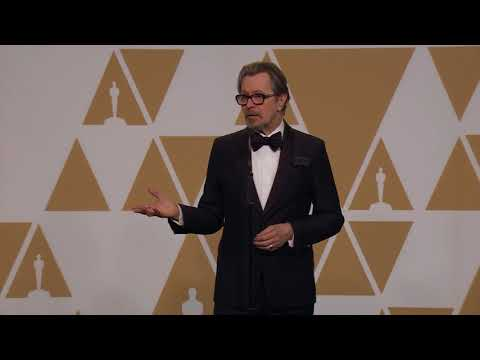 Gary Oldman  Full Backstage   Best Actor  Oscars 2018