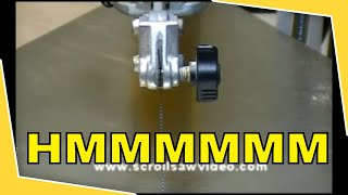 Woodworking - Scroll Saw Tutorial Proper.blade Tensioning