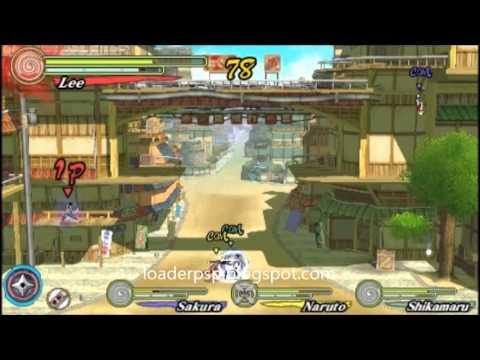 download naruto ultimate ninja heroes iso psp