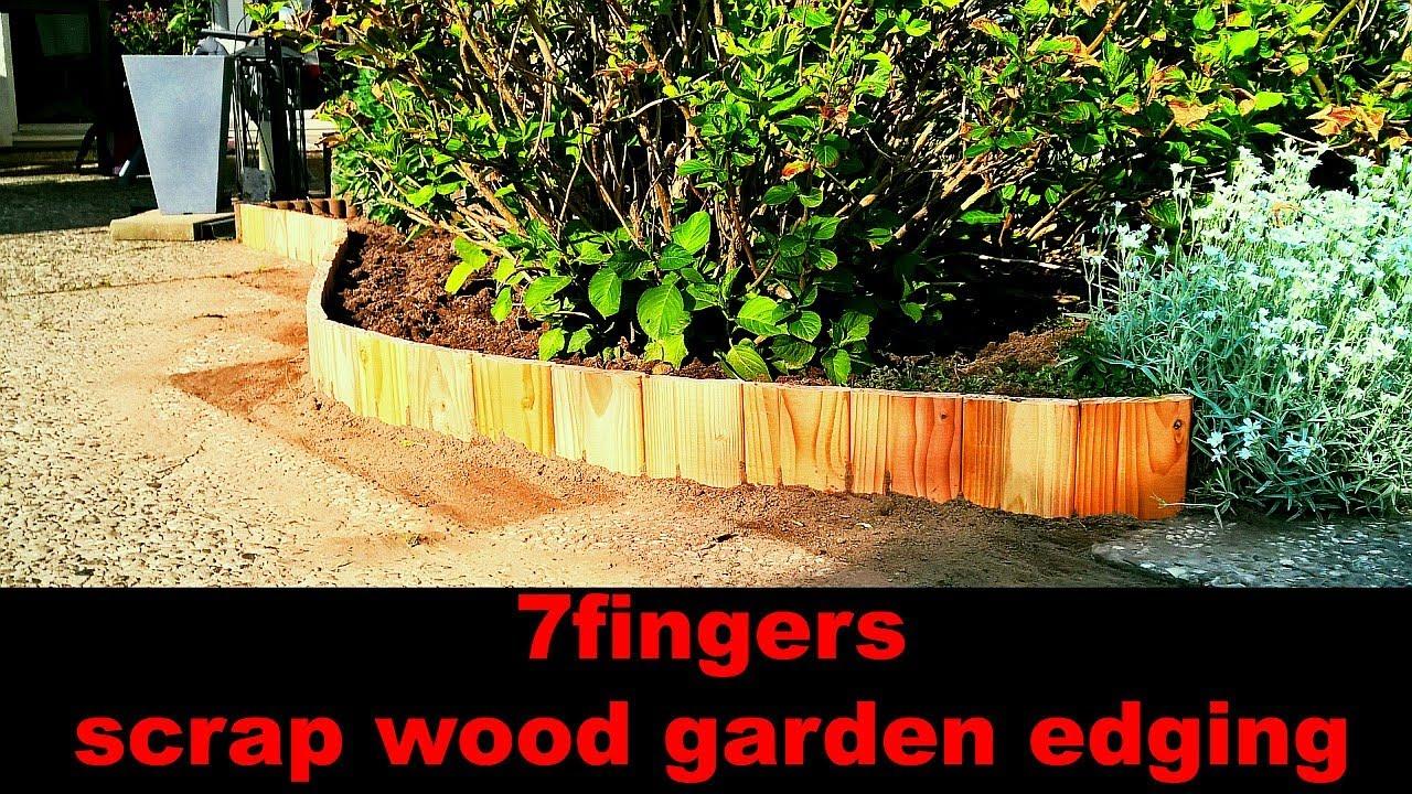 Bon Scrap Wood Garden Edging | Beetumrandung Aus Holzresten