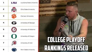 Pat McAfee Reacts to Official CFB  Playoff Rankings