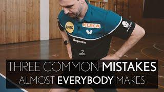 Тимо Болл: три самые распространенные ошибки в настольном теннисе