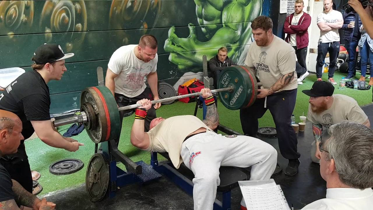 Strongman Bench Press Part - 27: Tom Price - Strongman - Powerlifter - 240kg/529lbs Bench Press