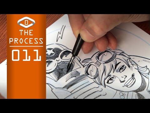 THE PROCESS:  Ink Style #01 Cross-Hatchling (narrated)