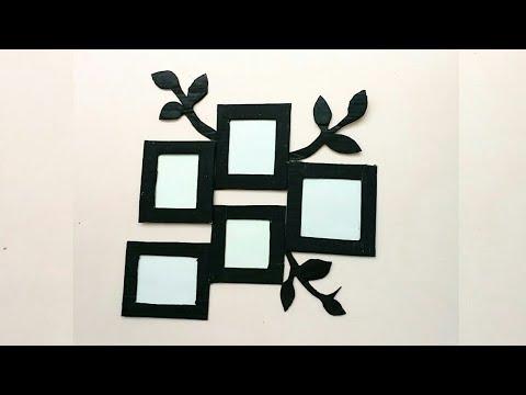 Diy photo frame | photo frame decoration idea | photo frame on the wall |