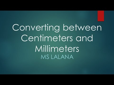 Converting Between Centimeters And Millimeters