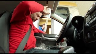 Public Pranks: Fast Food Idiot - Attack on the Drive Thru