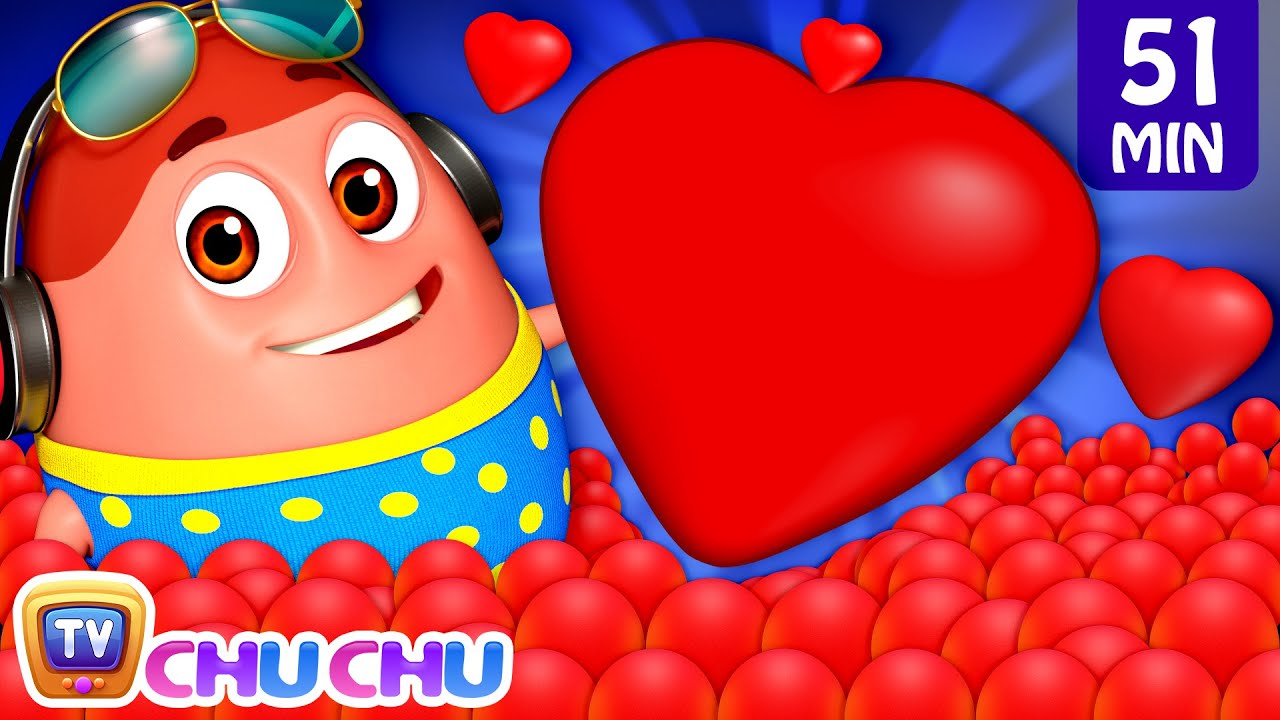 Learn Red Color with Surprise Eggs Ball Pit Show + More Funzone Songs for Kids - ChuChu TV