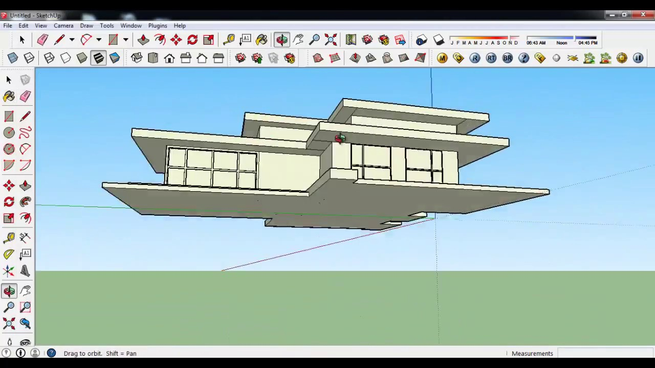 Making modern house in google sketchup