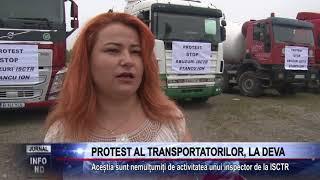 PROTEST AL TRANSPORTATORILOR, LA DEVA