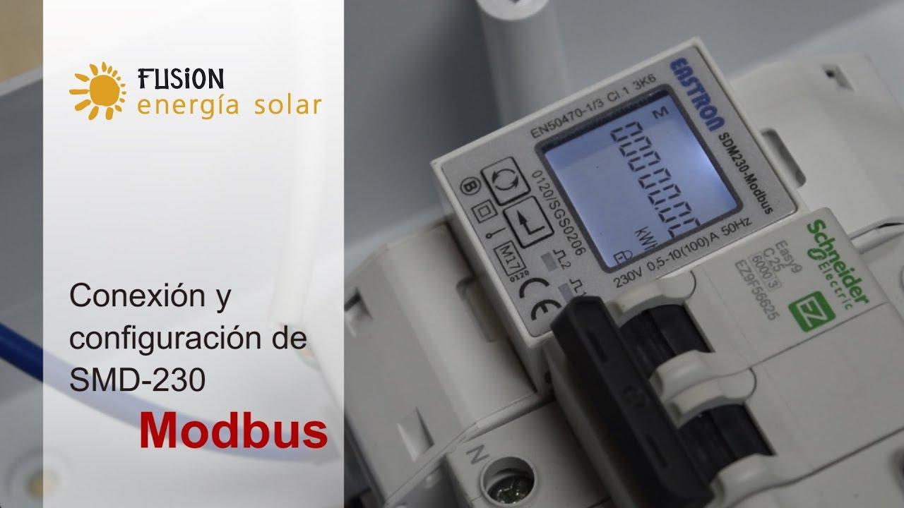 Conexión y configuración del SMD230 Modbus medidor para Inversores  Monofásicos de Kostal