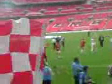 Exeter City vs Cambridge United Playoff Final at Wembley