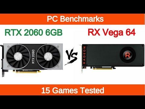 Nvidia Rtx 2060 Vs Amd Rx Vega 64 15 Games Tested Youtube