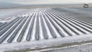 Солнечная электростанция в России. Работа солнечных панелей зимой