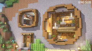 Minecraft: How To Build a Cozy Mountain House(Survival Base Tutorial)(#21) | 마인크래프트 건축, 동굴집, 절벽집