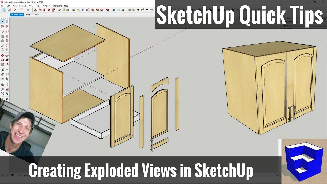 Creating an Exploded Model View in SketchUp - SketchUp Quick
