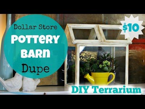 Dollar Store Pottery Barn Dupe - DIY Terrarium
