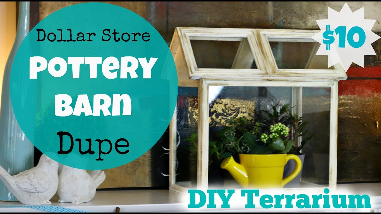 Dollar store pottery barn dupe diy terrarium youtube jeuxipadfo Images
