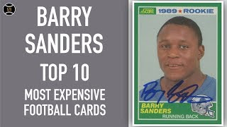 Barry Sanders: Top 10 Most Expensive Football Cards Sold on Ebay (July - September 2019)