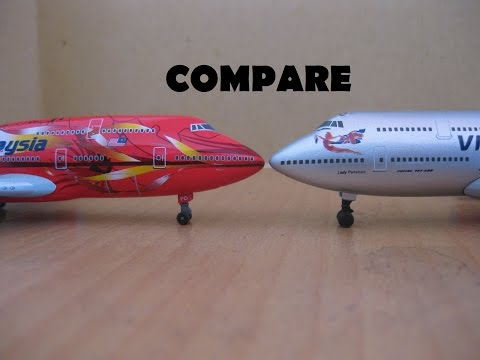 Compare Airplane Diecast IXO models VS Dragon Wings