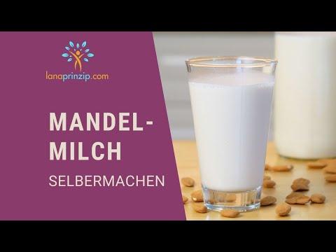 Rezept: Gesunde Mandelmilch selber machen - Eine Alternative zu Kuhmilch