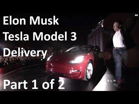 Elon Musk at Tesla Model 3 Final Unveil/Delivery Event - Car Specs - 2017-07-28 (Part 1 of 2)