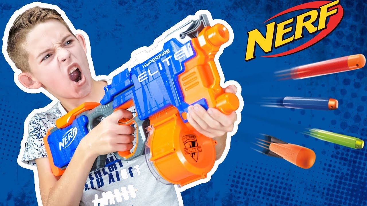 Обзор и распаковка НЁРФ Элит ХАЙПЕРФАЕР // Review Nerf elite Hyperfire