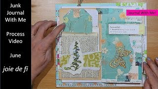 Junk Journal With Me | Process Video | June