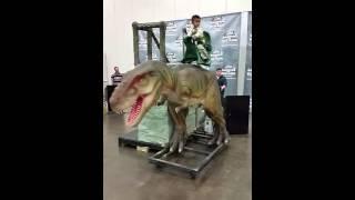 Marquis riding a  Trannysaurus Rex | .Antonio Williams