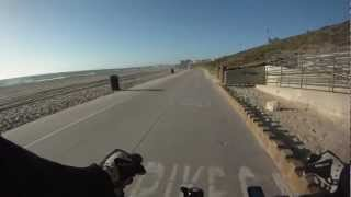 Bicycle ride on Marvin Braude Bike Trail from Torrance to Manhattan Beach California