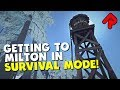 How to get to Milton/Mountain Town in The Long Dark Survival Mode from Mystery Lake/Forlorn Muskeg