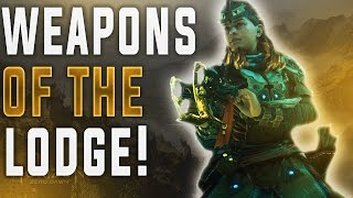 Horizon Zero Dawn. BEST WEAPONS IN THE GAME! (How to get them) Weapons of The Lodge Weapon Review.