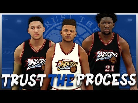 NBA 2K17 - Philadelphia 76ers - Trust The Process Jersey & Court Tutorial