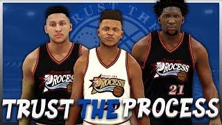 NBA 2K17 - Philadelphia 76ers - Trust The Process Jersey   Court Tutorial 757c06541