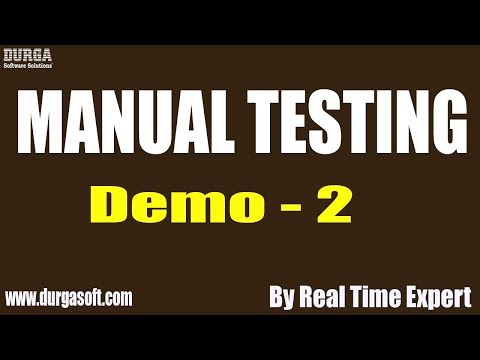 Manual Testing tutorial || Demo - 2 || by Real Time Expert on 28-11-2019 thumbnail