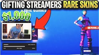 Every Death I GIFT Fortnite Streamers 1 000 $ Peau exclusive...