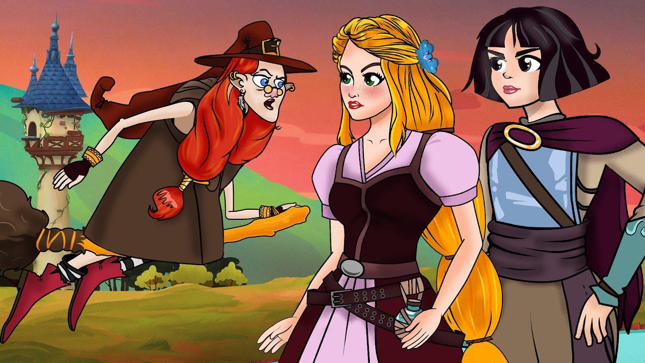 Rapunzel Episódio 1 & 2   Desenho animado   Conto de Fadas com Os Amiguinhos