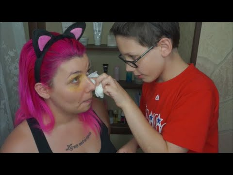 Thumbnail: My 10yo Son Does my MakeUp