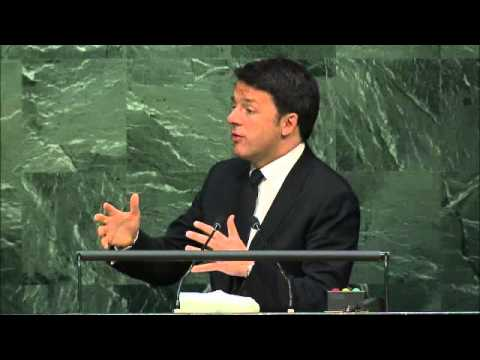 Prime Minister Matteo Renzi at the UN for Signing Ceremony of COP21