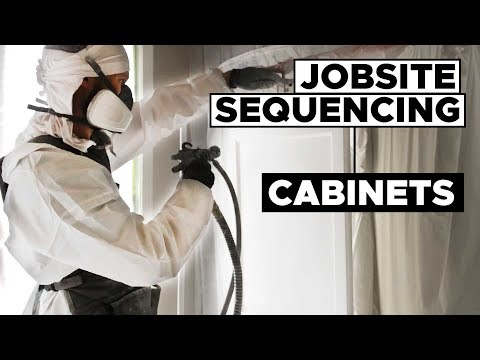 Spaying Cabinets IN THE CUSTOMER'S HOME! Jobsite Sequencing