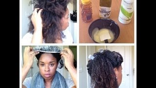 Deep Conditioning on Dry Natural Hair